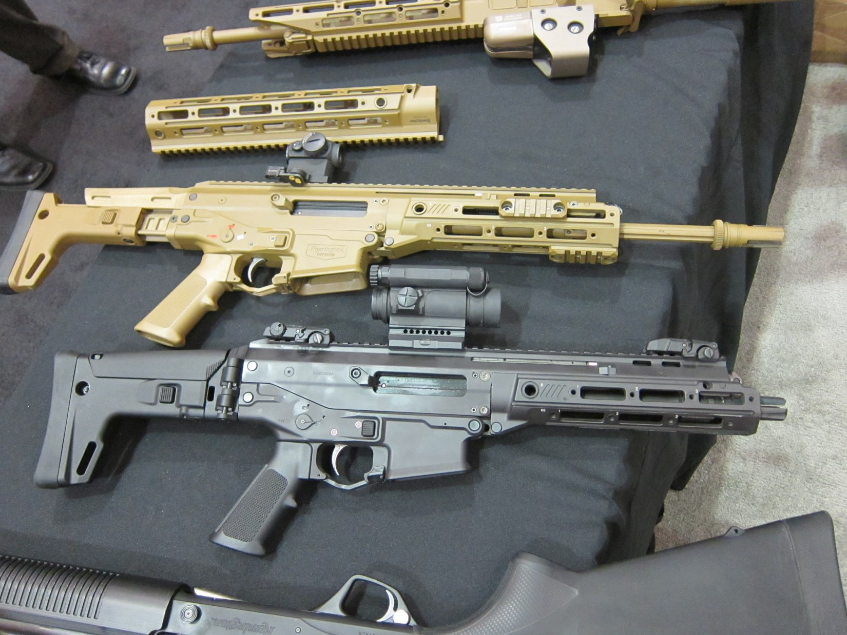 Remington ACR PDW SBR Adaptive Combat Rifle Personal Defense Weapon Short Barreled Rifle and Remington ACR Individual Carbine IC Robby Johnson NDIA Joint Armaments 2012 DefenseReview.com DR 2 Remington ACR PDW SBR (Adaptive Combat Rifle Personal Defense Weapon Short Barreled Rifle) and Remington Individual Carbine (IC) Candidate: Remington Defense Assault Rifles/Carbines/PDWs at NDIA Joint Armaments Conference 2012 (Video!)