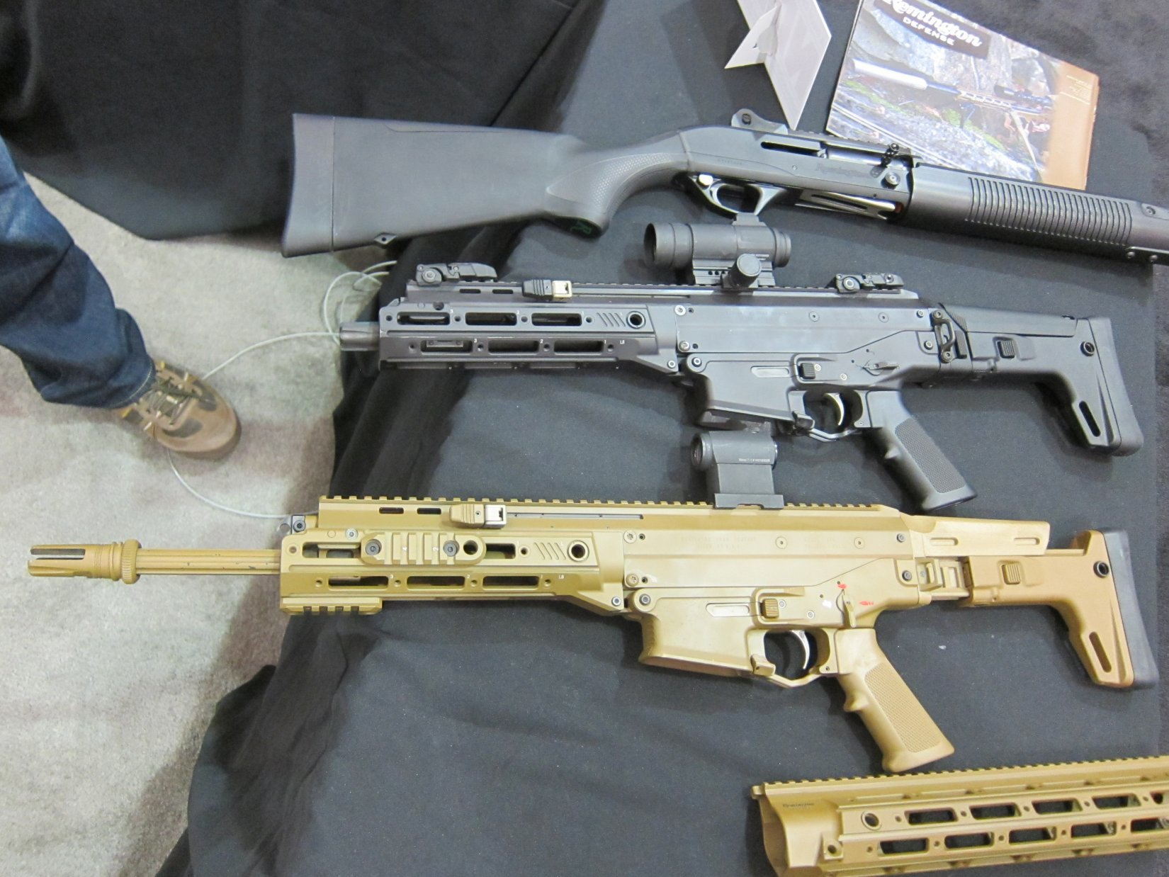 Remington ACR PDW SBR Adaptive Combat Rifle Personal Defense Weapon Short Barreled Rifle and Remington ACR Individual Carbine IC Robby Johnson NDIA Joint Armaments 2012 DefenseReview.com DR 3 Remington ACR PDW SBR (Adaptive Combat Rifle Personal Defense Weapon Short Barreled Rifle) and Remington Individual Carbine (IC) Candidate: Remington Defense Assault Rifles/Carbines/PDWs at NDIA Joint Armaments Conference 2012 (Video!)