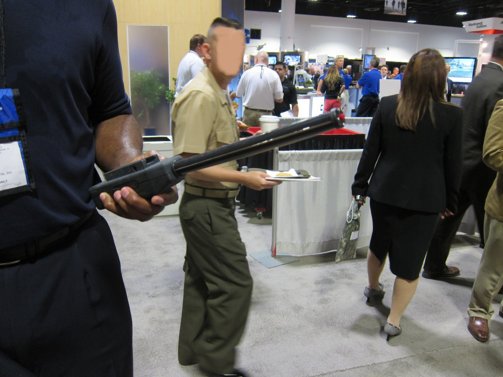 Stunning Developments BattleProd Combat Tactical Stun Baton Donovan Hunter NDIA SOFIC 2012 DefenseReview.com DR 3 Stunning Developments BattleProd Combat/Tactical Stun Baton: 3 5 Million Volt Tactical Cattle Prod for Instant Compliance in Urban Warfare Operations (Video!)