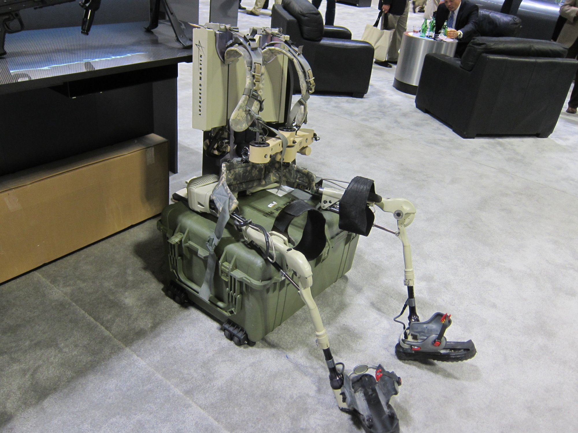 Berkeley Bionics Lockheed Martin HULC Human Universal Load Carrier Anthropomorphic Exoskeleton for Military Combat SOFIC 2012 DefenseReview.com DR 3 Lockheed Martin HULC (Human Universal Load Carrier) Anthropomorphic Robotic Exoskeleton for Future Military Special Operations Forces (SOF) Warfare at SOFIC 2012 (Video!)