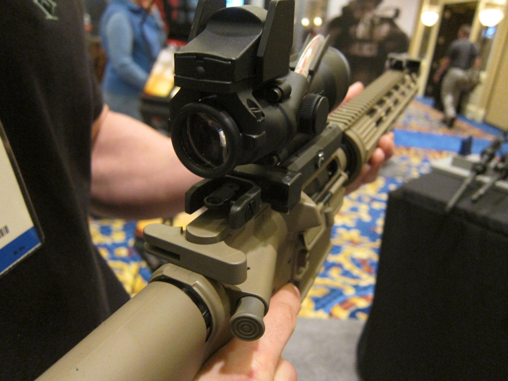 Diamondhead USA 45 Degree Offset Flip Sights BUIS Back Up Iron Sights for Tactical AR 15 Rifle Carbine SBR Sub Carbines SHOT Show 2012 DefenseReview.com DR 3 Diamondhead USA 45 Degree Offset Flip Sights/BUIS (Back Up Iron Sights) for Tactical AR 15 Rifle/Carbine/SBR/Sub Carbines