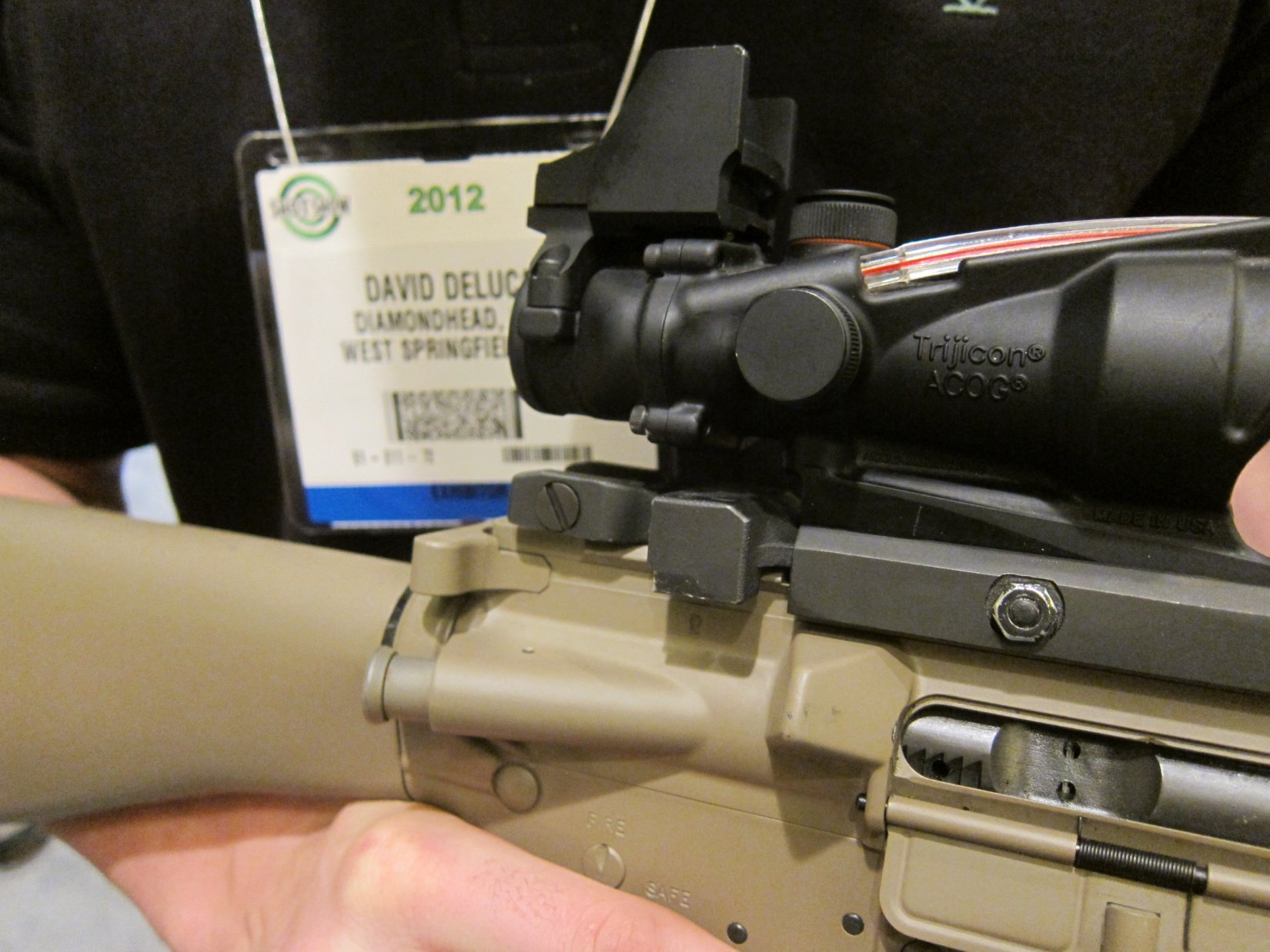 Diamondhead USA 45 Degree Offset Flip Sights BUIS Back Up Iron Sights for Tactical AR 15 Rifle Carbine SBR Sub Carbines SHOT Show 2012 DefenseReview.com DR 4 Diamondhead USA 45 Degree Offset Flip Sights/BUIS (Back Up Iron Sights) for Tactical AR 15 Rifle/Carbine/SBR/Sub Carbines