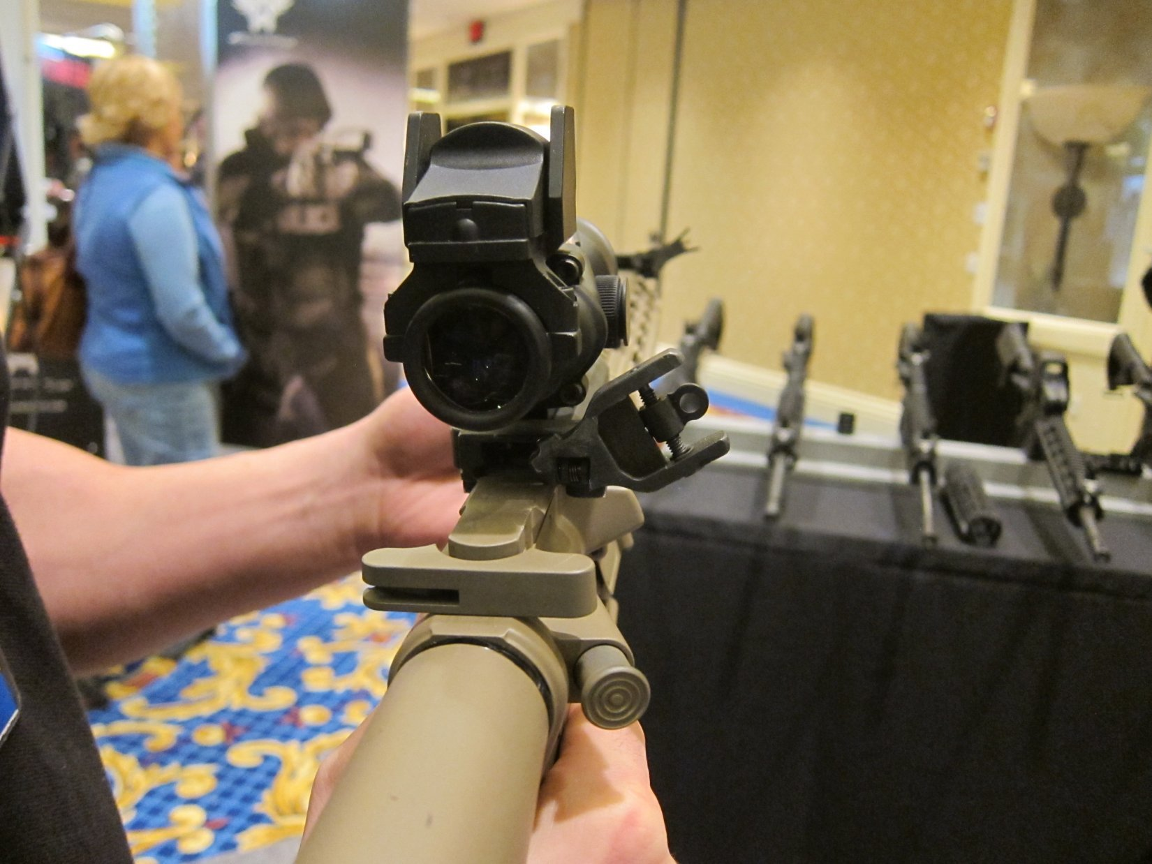 Diamondhead USA 45 Degree Offset Flip Sights BUIS Back Up Iron Sights for Tactical AR 15 Rifle Carbine SBR Sub Carbines SHOT Show 2012 DefenseReview.com DR 5 Diamondhead USA 45 Degree Offset Flip Sights/BUIS (Back Up Iron Sights) for Tactical AR 15 Rifle/Carbine/SBR/Sub Carbines