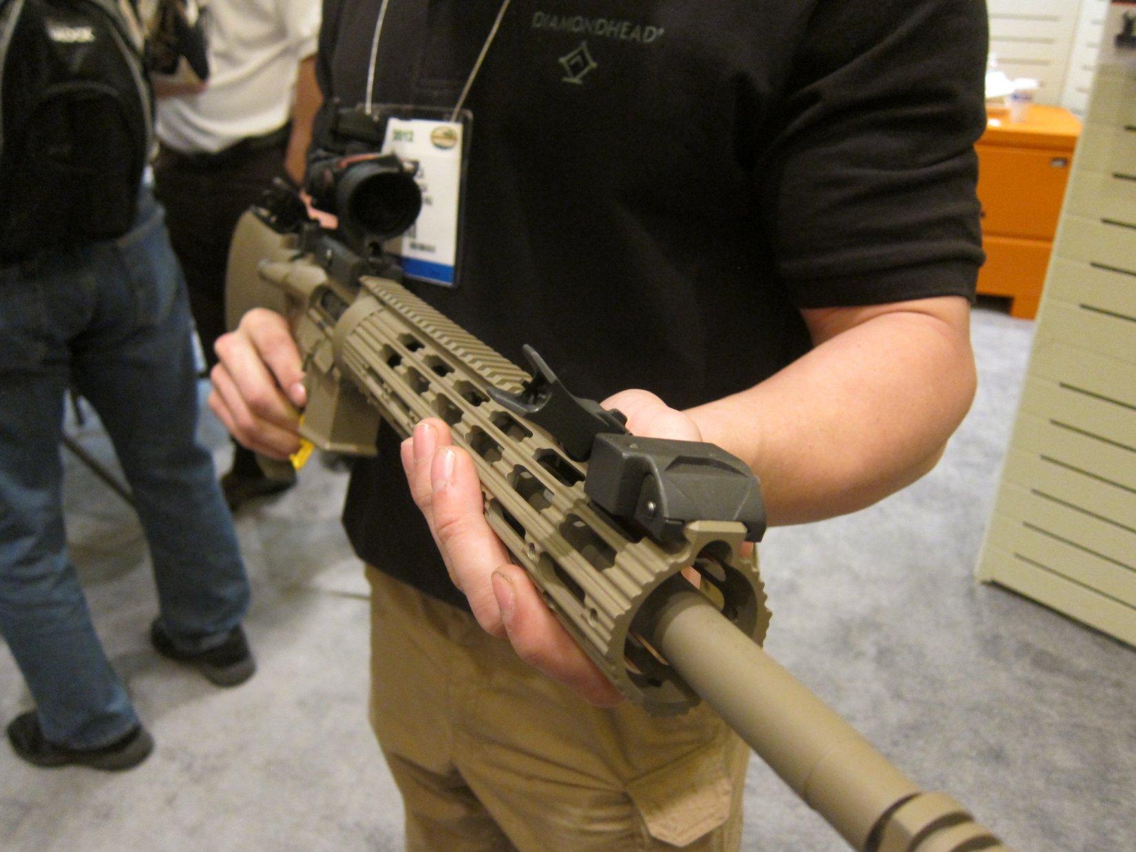 Diamondhead USA 45-Degree-Offset Flip Sights/BUIS (Back-Up Iron Sights) for Tactical AR-15 Rifle/Carbine/SBR/Sub-Carbines
