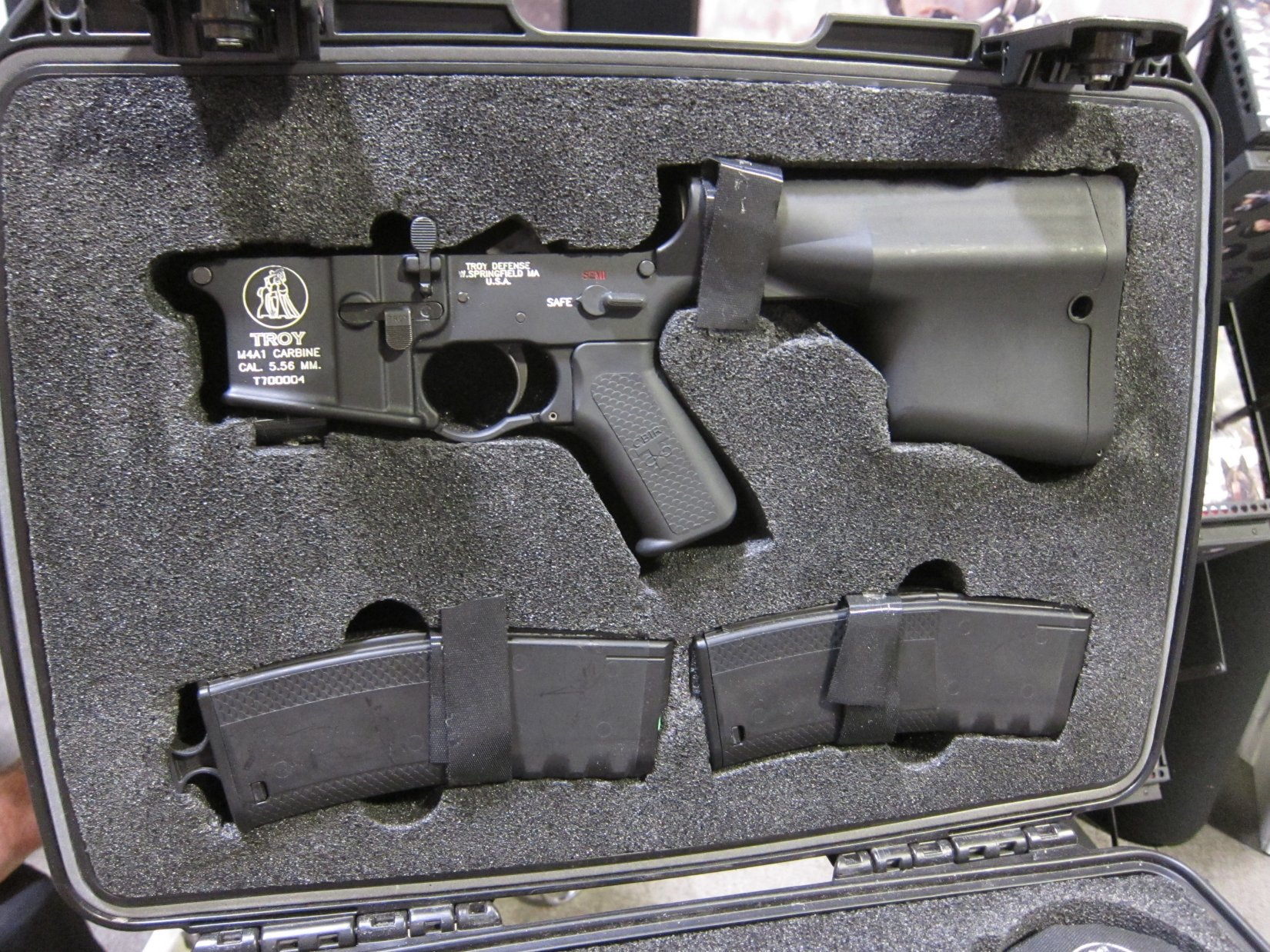 Troy Industries M7 Tactical AR 15 SBR Upper Receiver Lower Receiver Upgrade Kit SOFIC 2012 DefenseReview.com DR 3 Troy Industries M7 Upper Receiver/Lower Receiver Upgrade Kit for Tactical AR 15 Carbine Lowers (Video!)