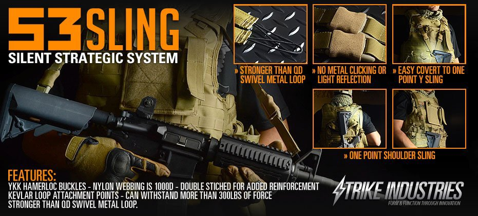 Strike Industries S3 Sling Silent Strategic System for Tactical AR Carbine SBR Press Release 1 Strike Industries S3 Sling for Tactical AR Carbine/SBRs: Meet the Silent Strategic System