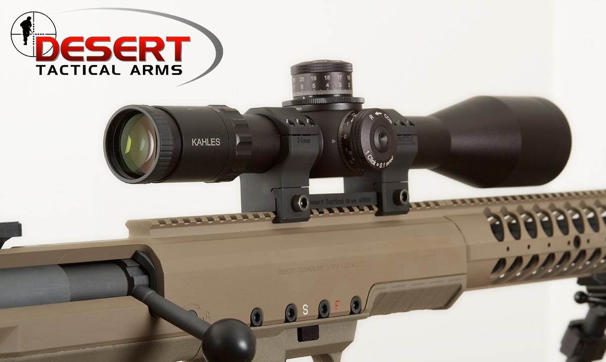 Desert Tactical Arms DTA Kahles Optics Press Release 1 Desert Tactical Arms (DTA) Partners with Kahles Optics Tactical Scopes/Combat Optics for Stealth Recon Scout (SRS) and Hard Target Interdiction (HTI) Anti Materiel/Sniper Rifles/Carbines