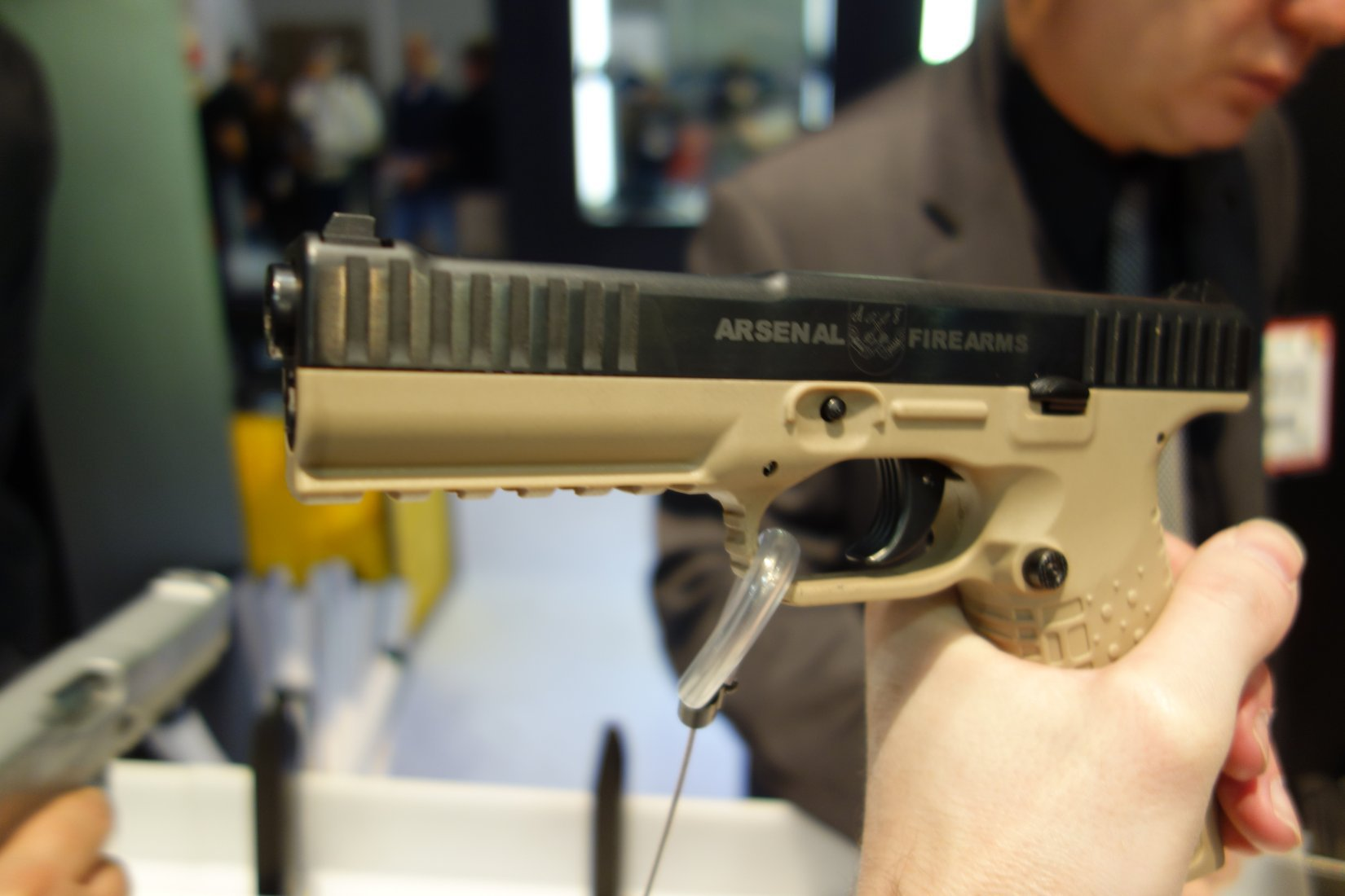 Arsenal Firearms Strike One Pistol System SHOT Show 2013 David Crane DefenseReview.com DR 1 Arsenal Firearms Strike One Pistol System Internal Parts and Operating Mechanism Shown and Explained at SHOT Show 2013 (Video!)