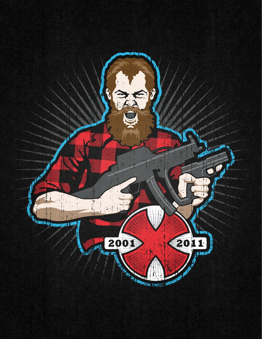 Noveske 10 Years Noveske Rifleworks 10 Year Anniversary T Shirt Graphic Design Ten Pound Monkey Media Jason Marcella 1 Geissele Noveske Memorial Trigger/Hammer Kit: Limited Edition Geissele Automatics Super Select Fire (SSF) Tactical AR Trigger/Hammer Kit with John Noveske/Noveske Rifleworks Graphic Being Offered at SHOT Show 2013 (Photos!)
