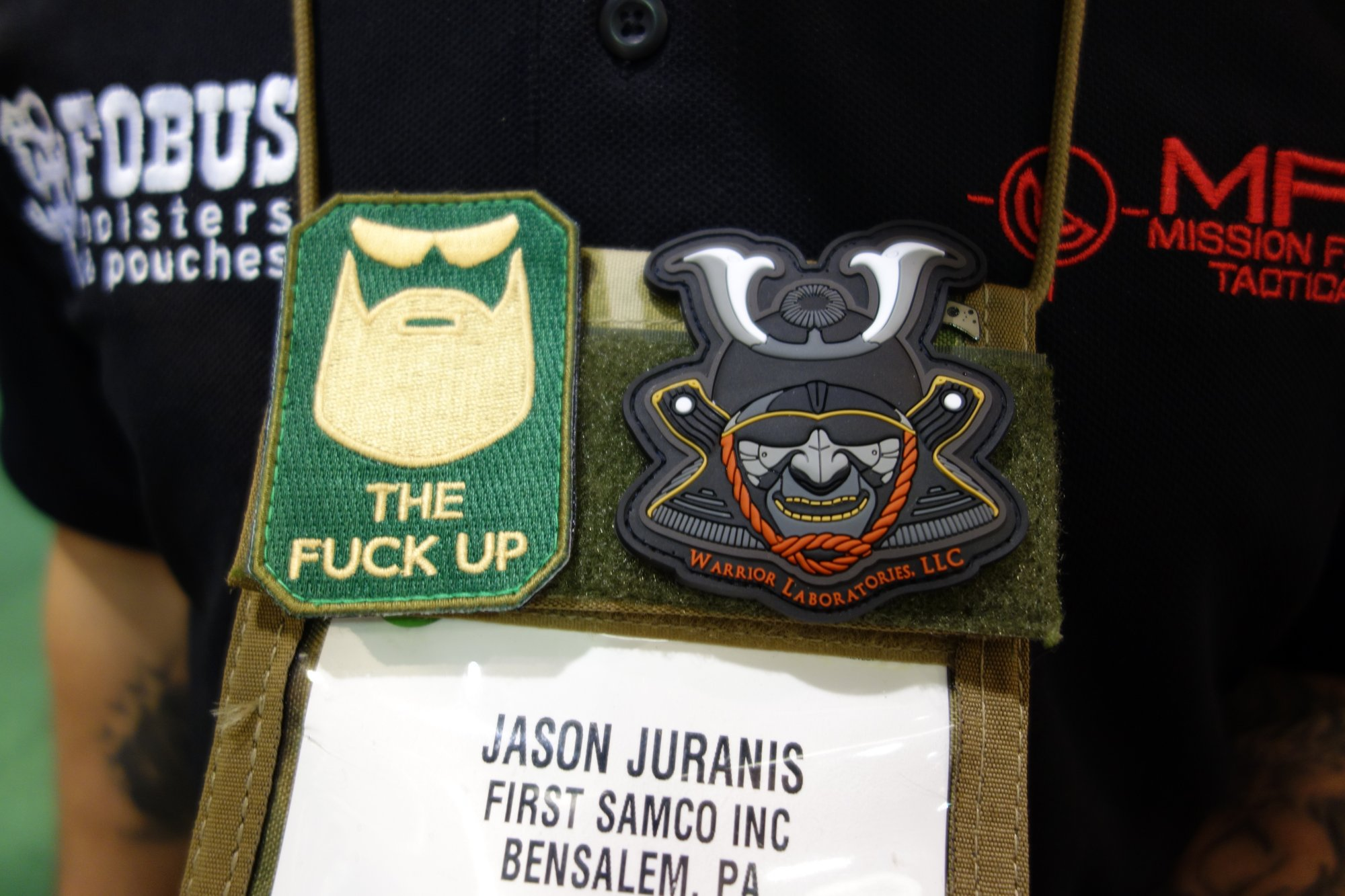 Warrior Laboratories LLC Patch Jason Juranis Mission First Tactical MFT 1 Cool Patch Alert: Warrior Laboratories Samurai Warrior Tactical Patch (PVC Morale Patch)