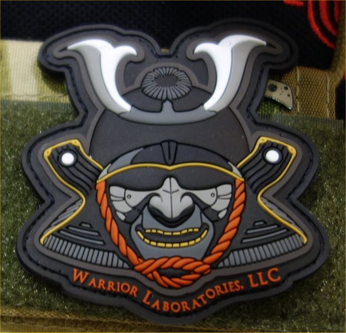 Warrior Laboratories LLC Patch Jason Juranis Mission First Tactical MFT 1 Cropped Cool Patch Alert: Warrior Laboratories Samurai Warrior Tactical Patch (PVC Morale Patch)