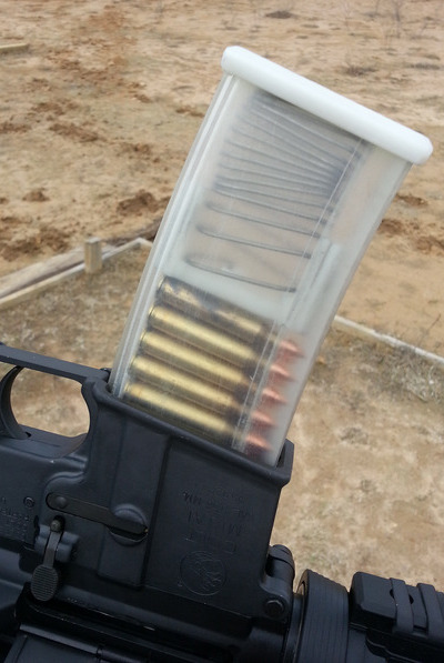 "Defense Distributed (DefDist) ""Wiki Weapon"" Concept and 3D-Printed Translucent Polymer 30-Round 5.56mm AR-15 Magazine: Meet the Democratic AR Mag, Courtesy of 3D Printing/Additive Manufacturing"