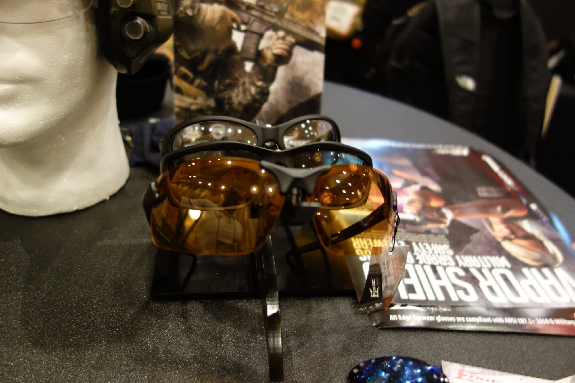 Edge Tactical Eyewear Vapor Shield Anti Fog Ballistic Eyepro Tactical Eyepro Eye Protection SHOT Show 2013 David Crane DefenseReview.com DR 11 Edge Tactical Eyewear (ETE) Vapor Shield Anti Fog Ballistic Eyepro (Eye Protection)/Shooting Glasses: Fogproof Tactical Eyepro for Mil/LE Tactical Assaulters/Operators and Civilian Tactical Shooters