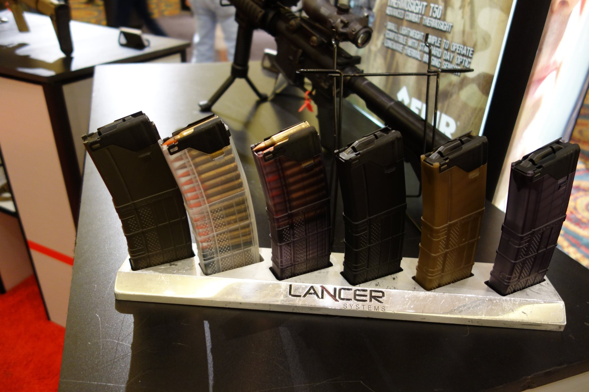 Lancer Systems Gen 2 L5 Translucent Advanced Warfighter Magazine AWM Polymer 30 Round 5.56mm AR 15 Rifle Mag SHOT Show 2013 David Crane DefenseReview.com DR 1 Gen 2 Lancer Systems L5 Translucent Advanced Warfighter Magazine (AWM): Truly Translucent Polymer 30 Round AR 15 Rifle/Carbine/SBR Mag!