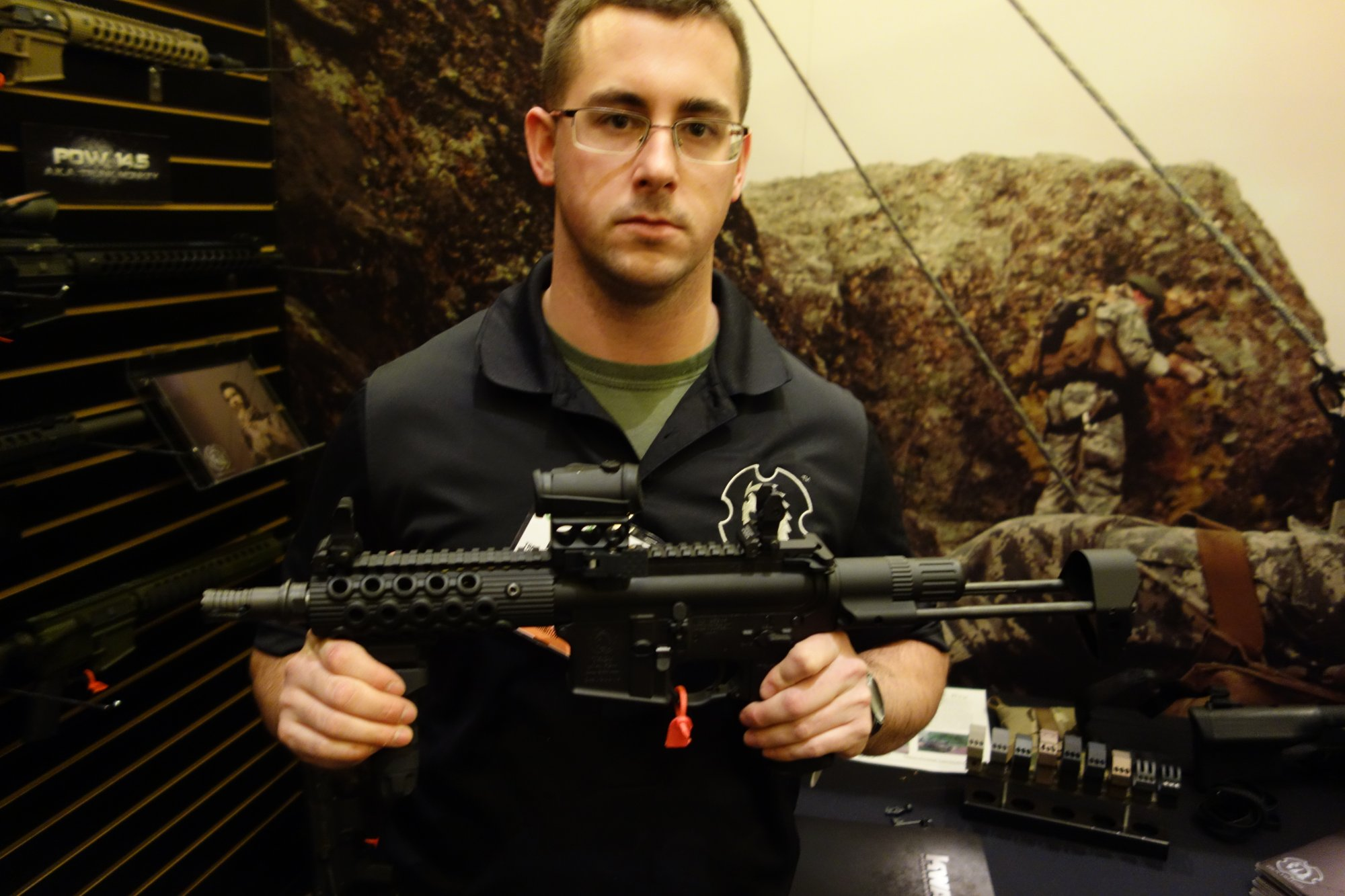 Troy Defense M7 PDW Select Fire 5.56mm 300 AAC Blackout 300BLK Tactical AR 15 SBR 14.5 Trunk Monkey Tactical AR 15 Carbine and Semi Auto Only Tactical AR 15 Carbines SHOT Show 2013 David Crane DefenseReview.com DR 3 Troy Defense M7 PDW 7 AR SBR and 14.5 Trunk Monkey 14.5 AR Carbine: 5.56mm/300 AAC Blackout (300BLK) Select Fire Tactical AR 15 SBR/Carbine Package (Video!)