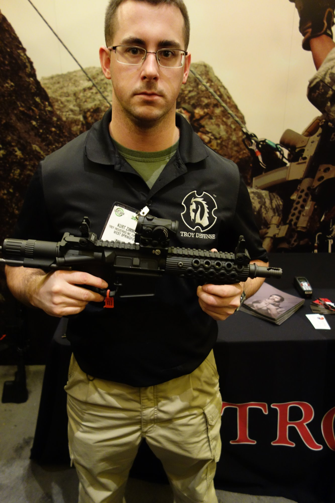 Troy Defense M7 PDW Select Fire 5.56mm 300 AAC Blackout 300BLK Tactical AR 15 SBR 14.5 Trunk Monkey Tactical AR 15 Carbine and Semi Auto Only Tactical AR 15 Carbines SHOT Show 2013 David Crane DefenseReview.com DR 4 Troy Defense M7 PDW 7 AR SBR and 14.5 Trunk Monkey 14.5 AR Carbine: 5.56mm/300 AAC Blackout (300BLK) Select Fire Tactical AR 15 SBR/Carbine Package (Video!)