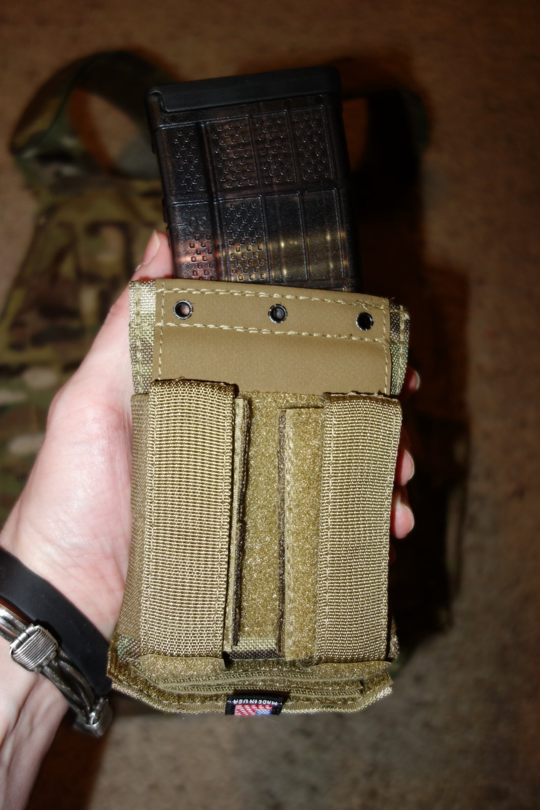 Hard Point Equipment Universal Mag Carrier UMC Universal Magazine Carrier Mag Pouch for Tactical Body Armor Carriers and Battle Belts David Crane DefenseReview.com DR 19 Tired of Tacos? Load Your Tactical Vest (Armor Plate Carrier) with the Hard Point Universal Mag Carrier (UMC): One Modular Magazine Pouch Handles 5.56mm and 7.62mm Rifle Magazines and Pistol Mags