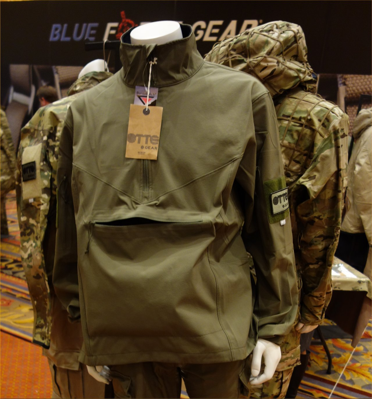 Otte Gear Sentinel Anorak Combat Jacket Tactical Jacket SHOT Show 2013 David Crane DefenseReview.com DR 1 Otte Gear (OG) Sentinel Anorak Softshell: High End Lightweight Pullover Combat/Tactical Jacket with Kangaroo Pouch for Lo Pro/Lo Vis Special Operations and Gunfighting with your Tactical Rifle/Carbine/SBR (Video!)