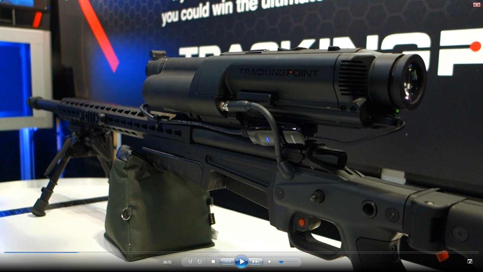 TrackingPoint XactSystem Precision Guided Firearm PGF Integrated Networked Tracking Scope Exhibit Floor SHOT Show 2013 David Crane DefenseReview.com DR 5 TrackingPoint XactSystem Precision Guided Firearm (PGF) Sniper Rifle Package with Surgeon Rifle and Integrated Networked Tracking Scope/Smart Scope Explained in Detail (Video!)