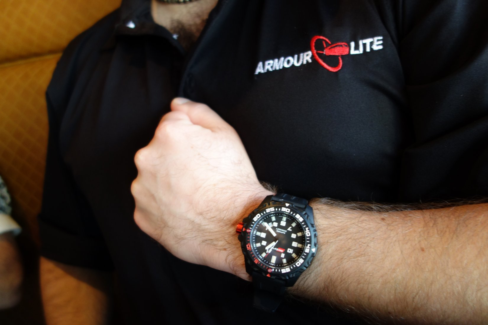 ArmourLite IsoBrite Tactical Watch Diving Watch T100 Tritium H3 Illumination Miami David Crane DefenseReview.com DR 5 ArmourLite IsoBrite Hard Use Tactical Watch/Diving Watch with T100 Tritium Illumination for Military and Law Enforcement Tactical Operations, Maritime Operations and Civilian Tactical Shooting (Video!)