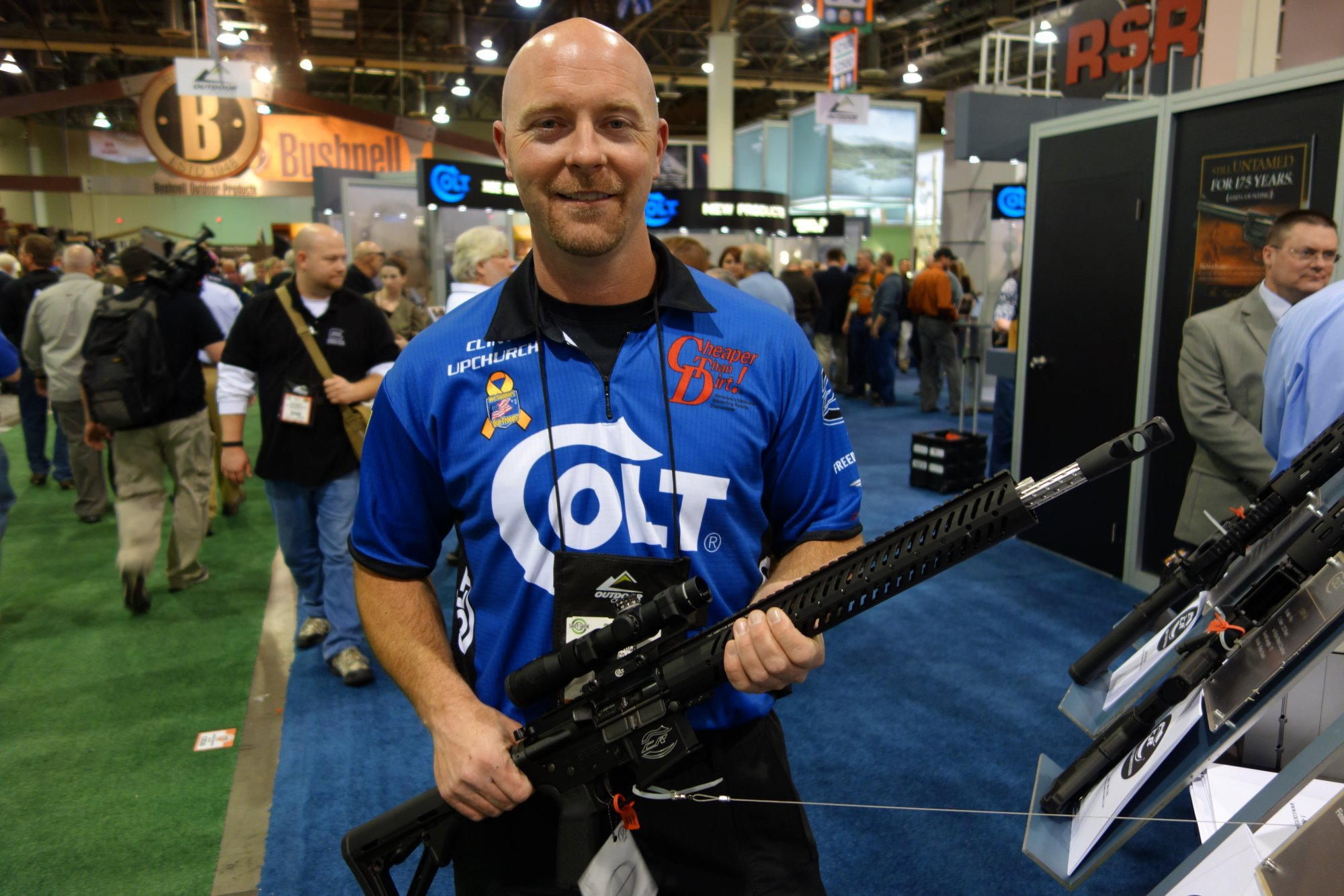 Colt Pro CRP 18 Competition AR 15 Carbine for Tactical 3 Gun Competition Competitive Shooting Clint Upchurch Colt Competition Rifles SHOT Show 2013 David Crane DefenseReview.com DR 2 Colt Pro CRP 18 and Pro CRP 16 AR 15 Carbine/Rifles for Tactical 3 Gun Competition/Competitive Shooting: Adjustable Gas System, Geissele SSA E Trigger, and Fluted Barrel! (Video!)