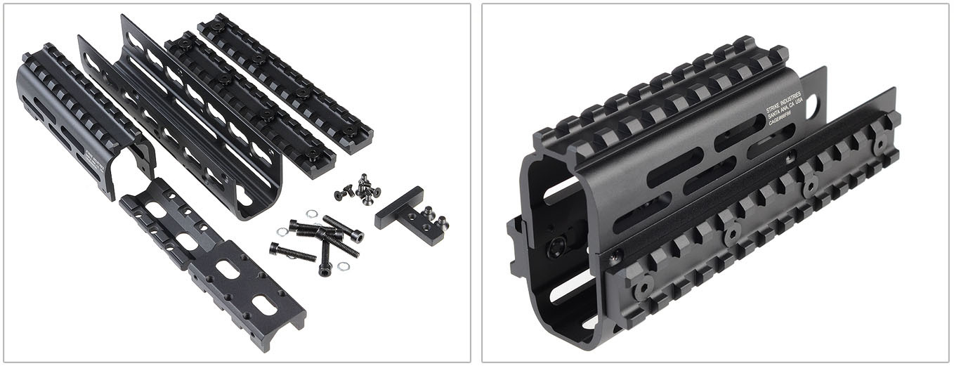 Strike Industries AK TRAX 1 KeyMod Modular Rail System Tactical Handguard for Kalashnikov AKM Rifle Carbine 2 Strike Industries AK TRAX 1/TRAX 2 KeyMod Modular Rail System/Tactical Handguard for Kalashnikov AKM Rifle/Carbine!