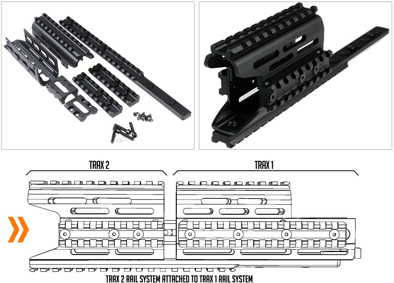 Strike Industries AK TRAX 1 KeyMod Modular Rail System Tactical Handguard for Kalashnikov AKM Rifle Carbine 3 Strike Industries AK TRAX 1/TRAX 2 KeyMod Modular Rail System/Tactical Handguard for Kalashnikov AKM Rifle/Carbine!