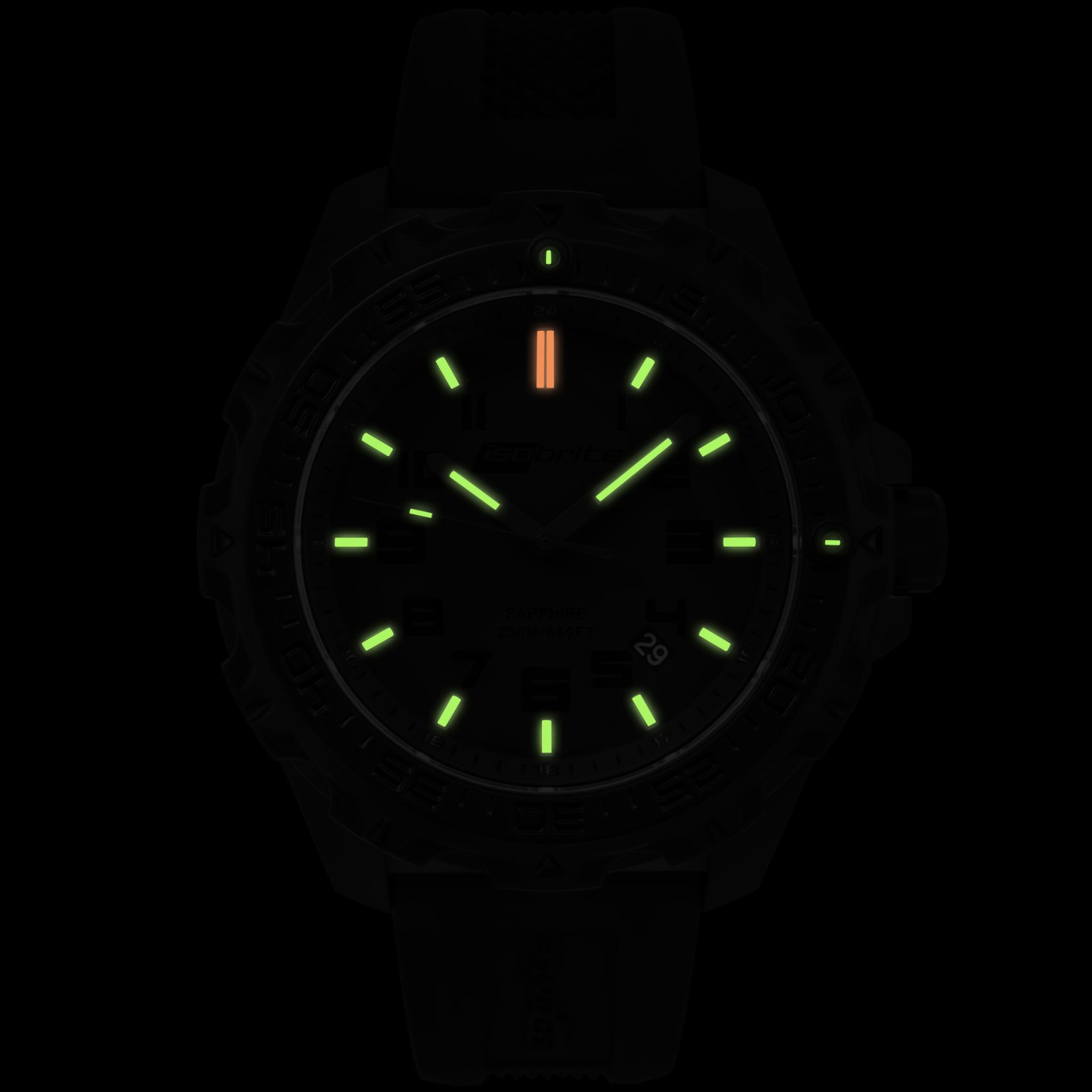 ArmourLite IsoBrite Eclipse T100 Tritium Illuminated Lightweight Polycarbon Watch 4 small All New Isobrite Eclipse T100 Tritium Illuminated Lightweight Polycarbon Tactical Watch Expands ArmourLites Commitment to Making the Brightest and Most Durable Watches