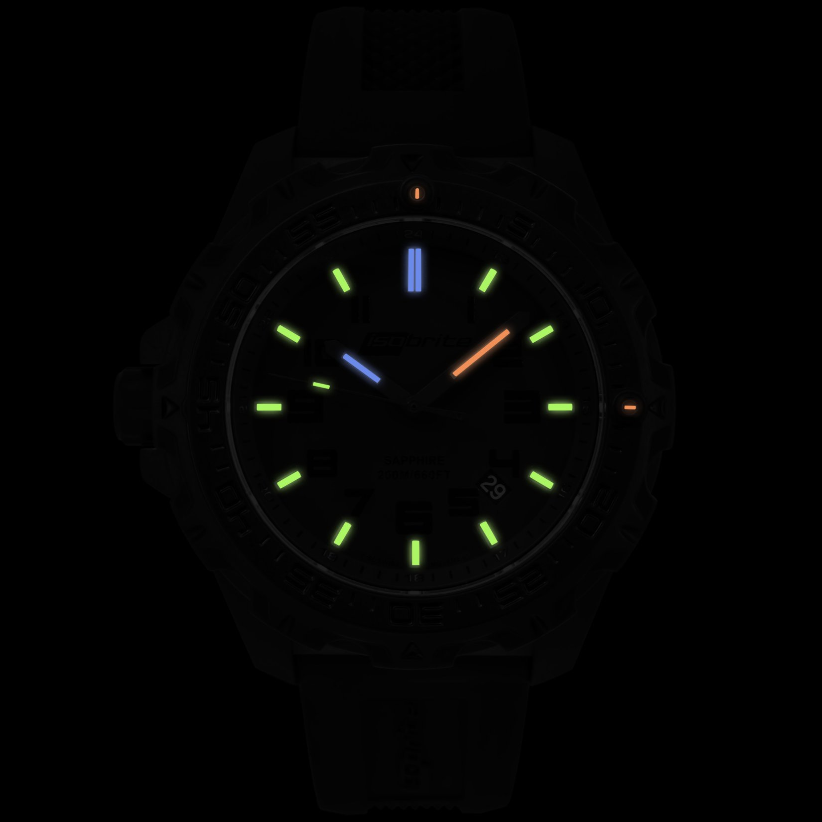 ArmourLite IsoBrite Eclipse T100 Tritium Illuminated Lightweight Polycarbon Watch 5 small All New Isobrite Eclipse T100 Tritium Illuminated Lightweight Polycarbon Tactical Watch Expands ArmourLites Commitment to Making the Brightest and Most Durable Watches
