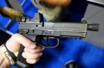 FNH_USA_FN_FNX-45_Tactical_Pistol_.45_ACP_Combat_Pistol_with_Threaded_Barrel_for_Silencer_Sound_Suppressor_SOFIC_2013_David_Crane_DefenseReview.com_(DR)_2
