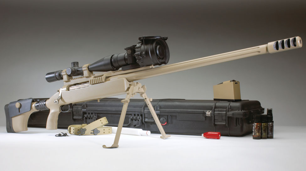 McMillan TAC 50 Tactical Rifle Mk 15 .50 BMG Sniper Rifle 1 McMillan/TrackingPoint .50 BMG Precision Guided Rifle (PGR): Meet the Future 3,100 Yard Super Gun Sniper Rifle with XactSystem Smart Rifle Scope Technology