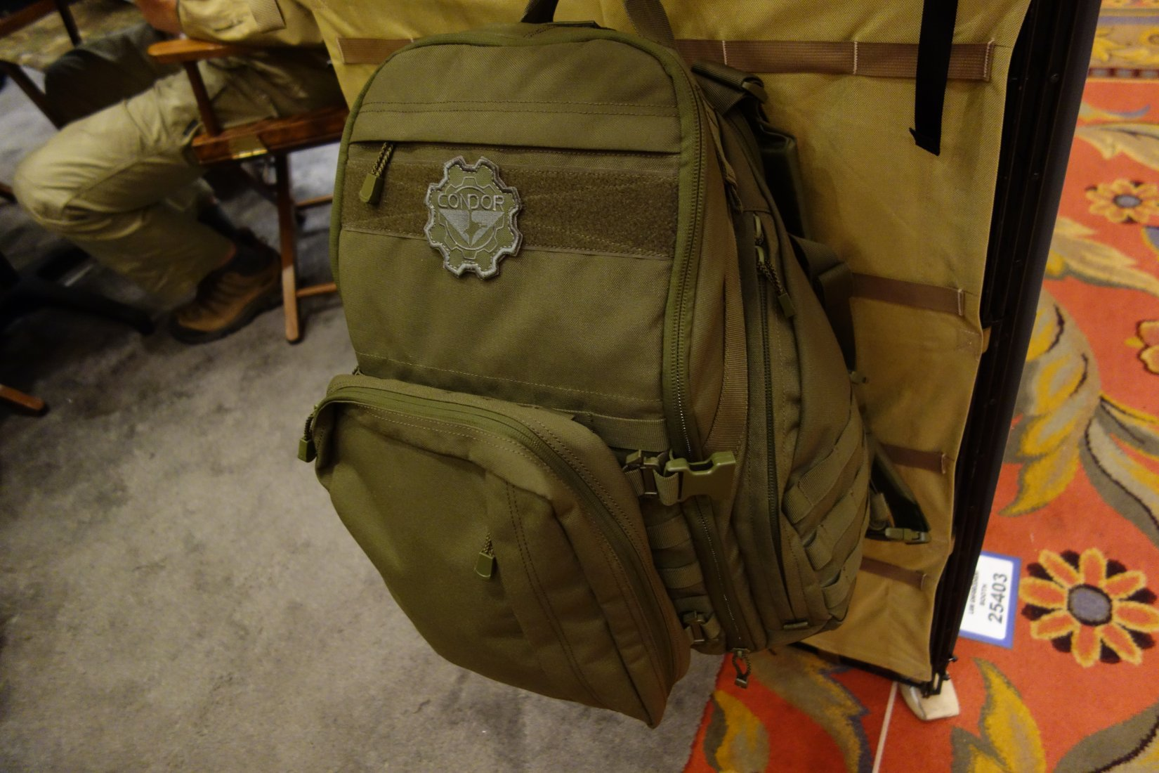 Condor Outdoor Bison Backpack Combat Tactical Pack with Tactical Hydration Capability Andy Chen SHOT Show 2013 David Crane DefenseReview.com DR 1 Condor Bison Backpack: Combat/Tactical Pack with Tactical Hydration Capability  and it can Carry Your Laptop! (Video!)