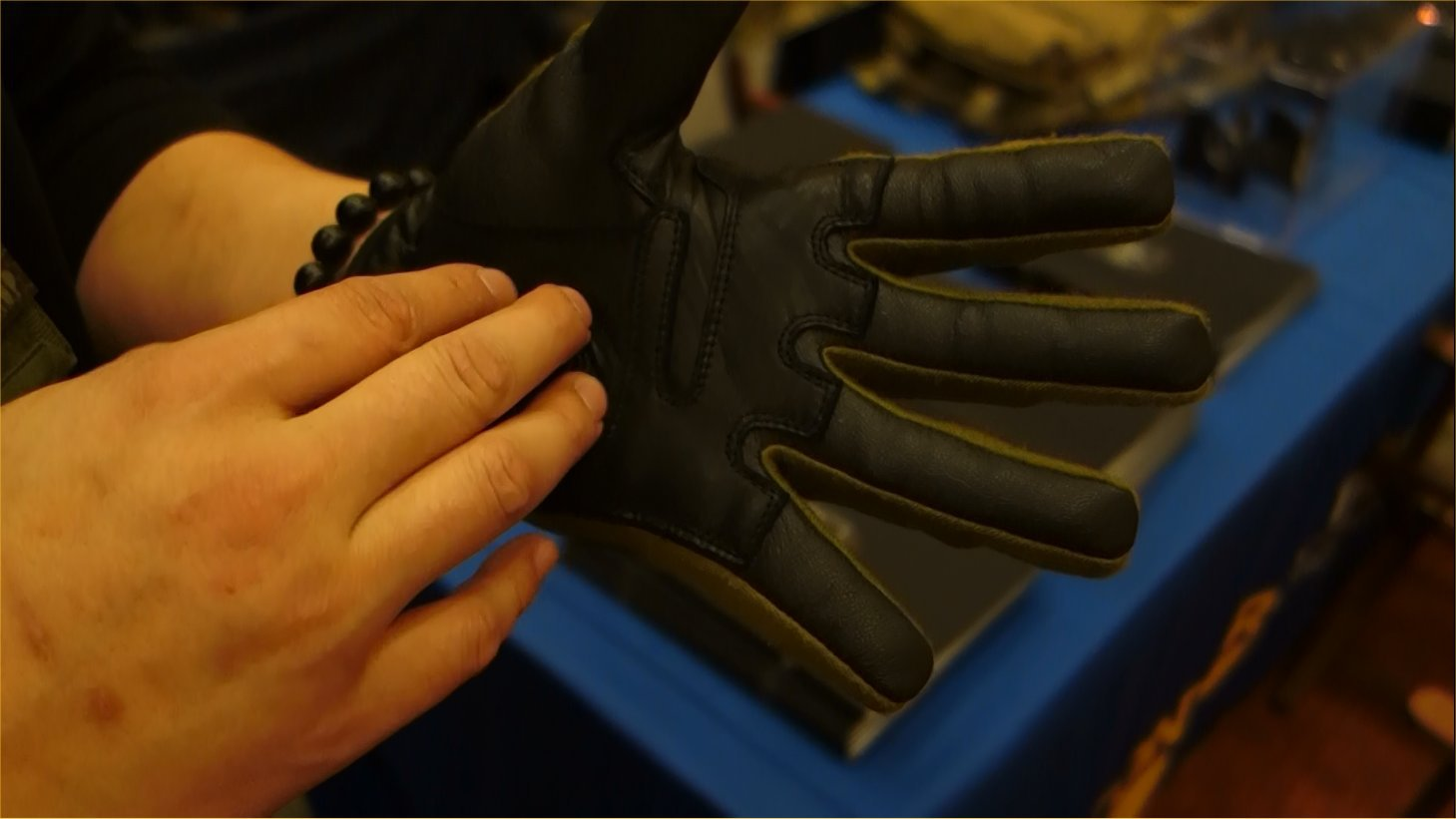 Condor Outdoor Syncro Tactical Glove Tactical Shooting Gloves with HK251 Touchtec Nanotechnology Leather Andy Chen SHOT Show 2013 David Crane DefenseReview.com DR 2 Condor Syncro Hard Knuckle Tactical Glove with TouchTec Nanotechnology: Touchscreen Friendly Tactical Shooting Gloves Allow You to Operate Smartphone and Tablet Computer! (Video!)
