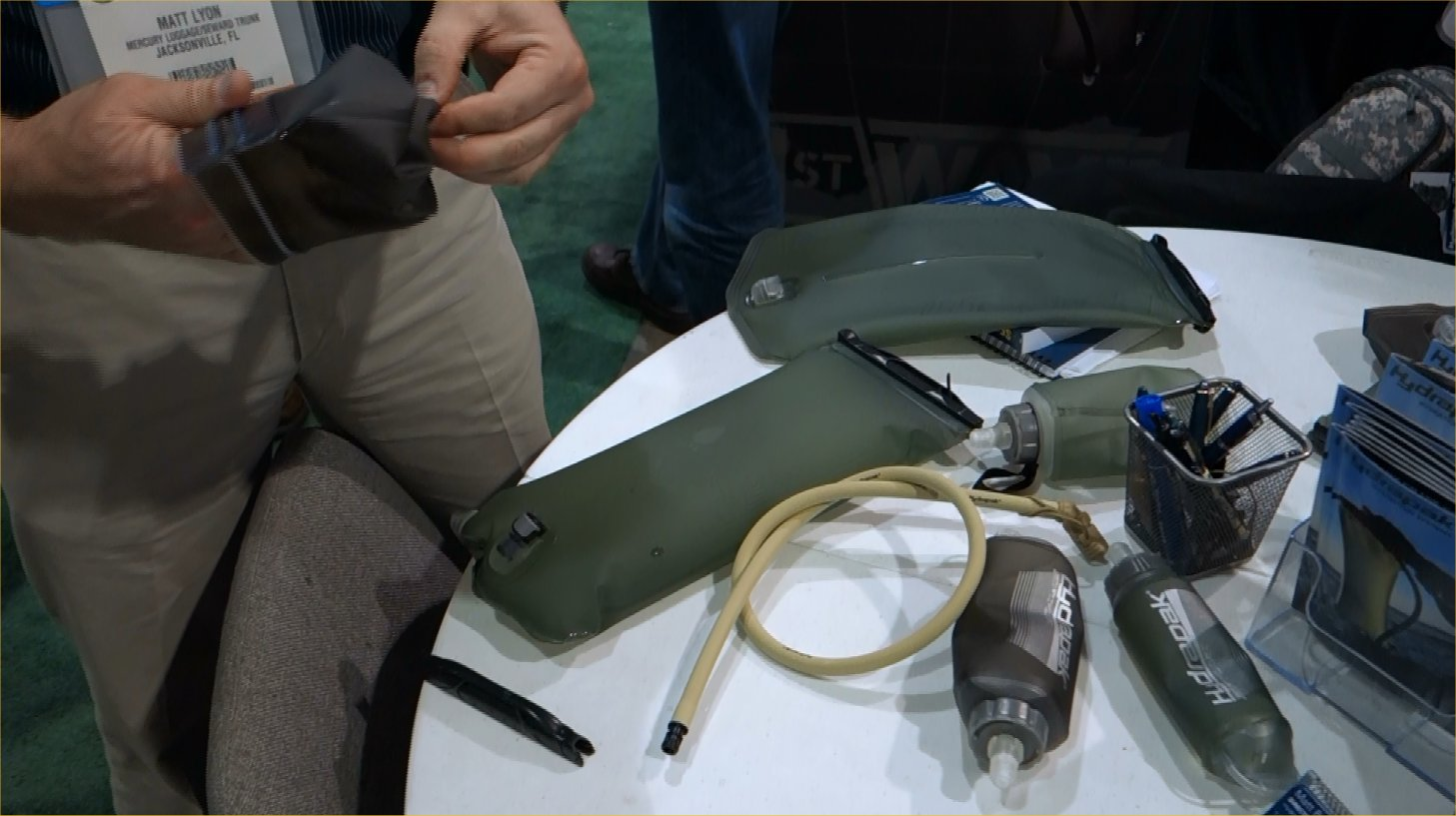 Hydrapak First Wave 1st Wave Military Tactical Hydration Reservoir System Combat Hydration System Matt Lyon SHOT Show 2013 David Crane DefenseReview.com DR 6 Hydrapak Softflask (Soft Flask) Collapsible Water Bottle with Bite Valve: Tactical Hydration in Flexible Water Bottle Form (Video!)