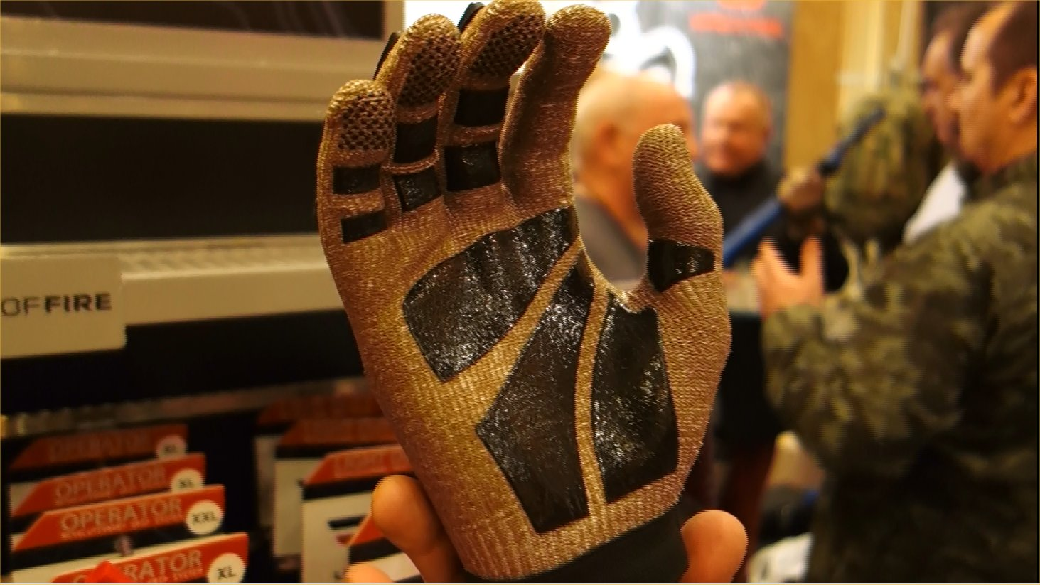 Line of Fire LOF Phantom Dyneema Cut Resistant Tactical Glove with Hard Knuckles and Silicone Print Gripping Material Tactical Gloves Combat Gloves Brian Miller SHOT Show 2013 David Crane DefenseReview.com DR 1 Line of Fire LOF Phantom Combat/Tactical Glove: Seamless Dyneema Cut Resistant Combat/Tactical Shooting Gloves with Hard Knuckles and Fingers and Silicone Gripping Material (Video!)