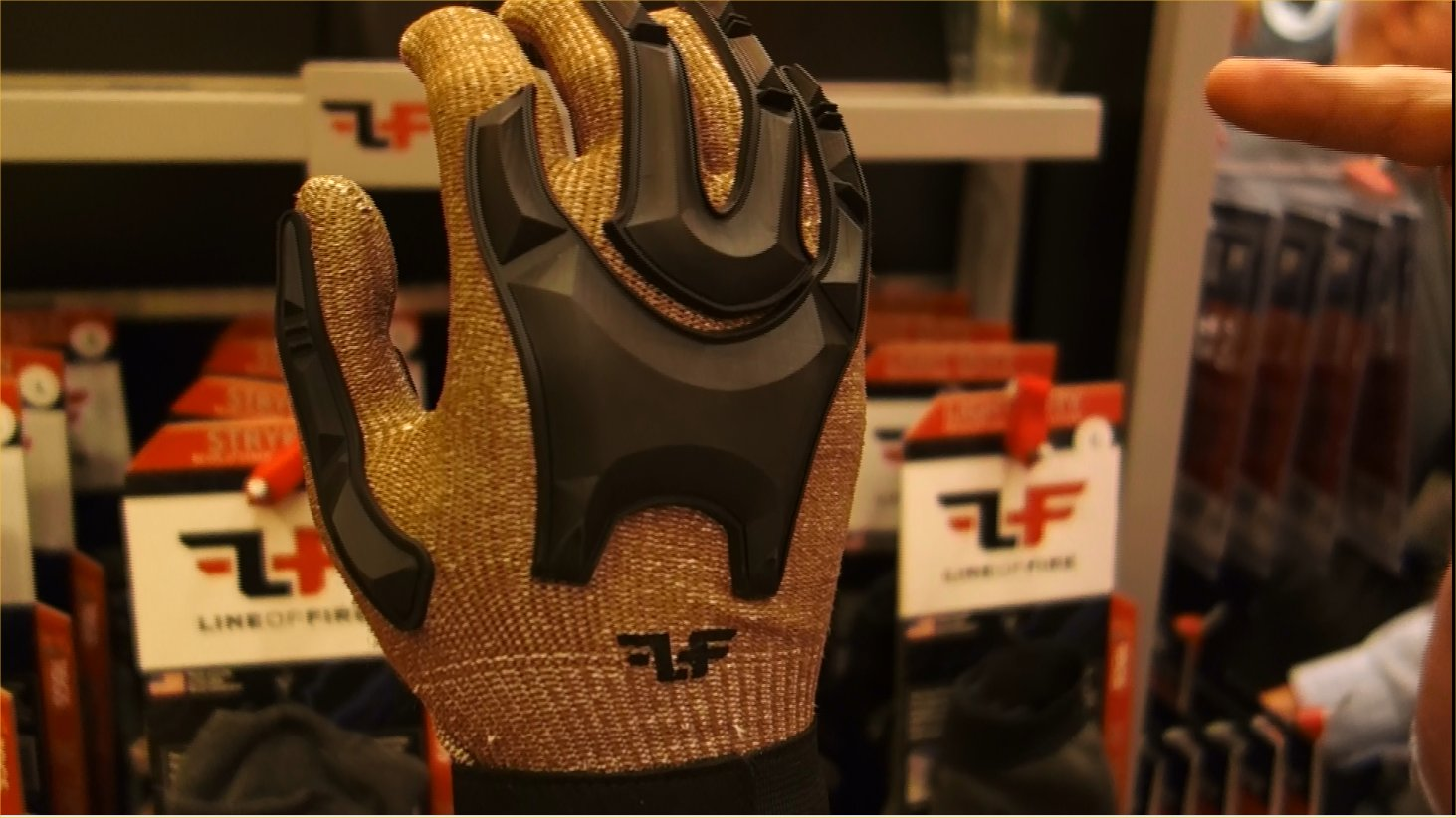Line of Fire LOF Phantom Dyneema Cut Resistant Tactical Glove with Hard Knuckles and Silicone Print Gripping Material Tactical Gloves Combat Gloves Brian Miller SHOT Show 2013 David Crane DefenseReview.com DR 4 Line of Fire LOF Phantom Combat/Tactical Glove: Seamless Dyneema Cut Resistant Combat/Tactical Shooting Gloves with Hard Knuckles and Fingers and Silicone Gripping Material (Video!)
