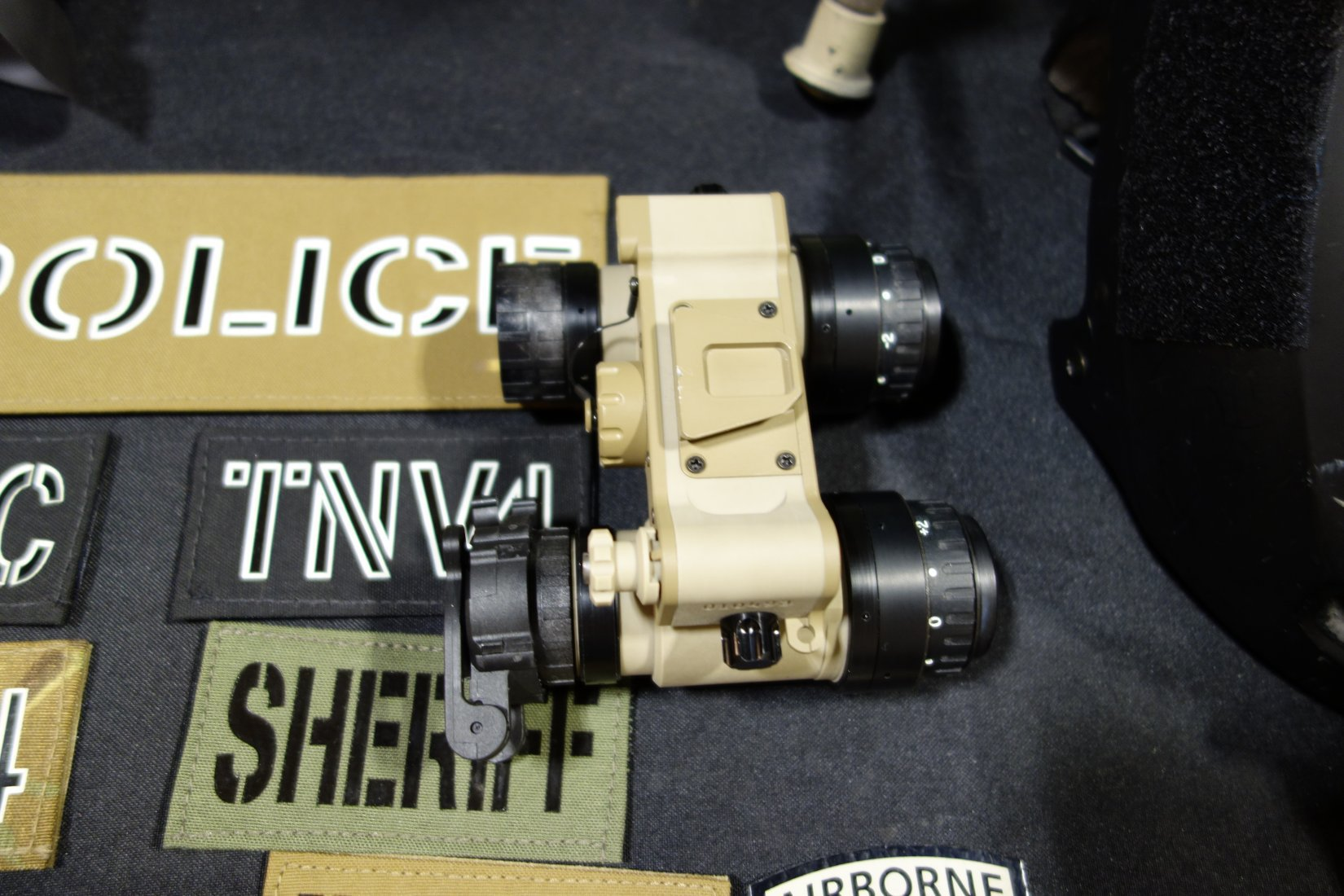 Tactical Night Vision Company TNVC Sentinel Ruggedized Night Vision Goggle NVG Retrofitted and Ruggedized AN AVS 6 AN AVS 9 NVG Kyle Harth NDIA SOFIC 2013 David Crane DefenseReview.com DR 2 Adams Industries (AI)/Tactical Night Vision Company TNVC Sentinel Night Vision Goggle (NVG)/Imaging System: Up Armored AN/AVS 6/9 (ANVIS 6/9) NVG for Military Special Operations Forces (SOF) (Video!)