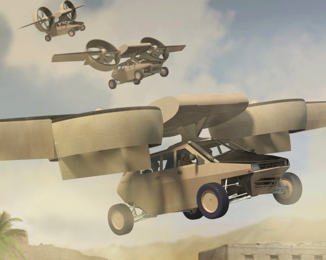 Lockheed Martin Piasecki Aircraft Transformer TX Lightweight Airborne Flying Combat Tactical Vehicle Lockheed Martin 3 DARPA/Lockheed Martin/Piasecki Aircraft Transformer TX Lightweight Airborne/Flying Tactical Fighting Vehicle: U.S. Military Combat/Warfare Meets The Jetsons