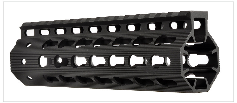 Strike Industries Mega Fins Tactical Handguard Rail  System and KeyMod Rail Section image 1b Strike Industries AR Mega Fins KeyMod Tactical Handguard/Rail System with Rail Accessories for Tactical AR 15 Carbine/Rifles!