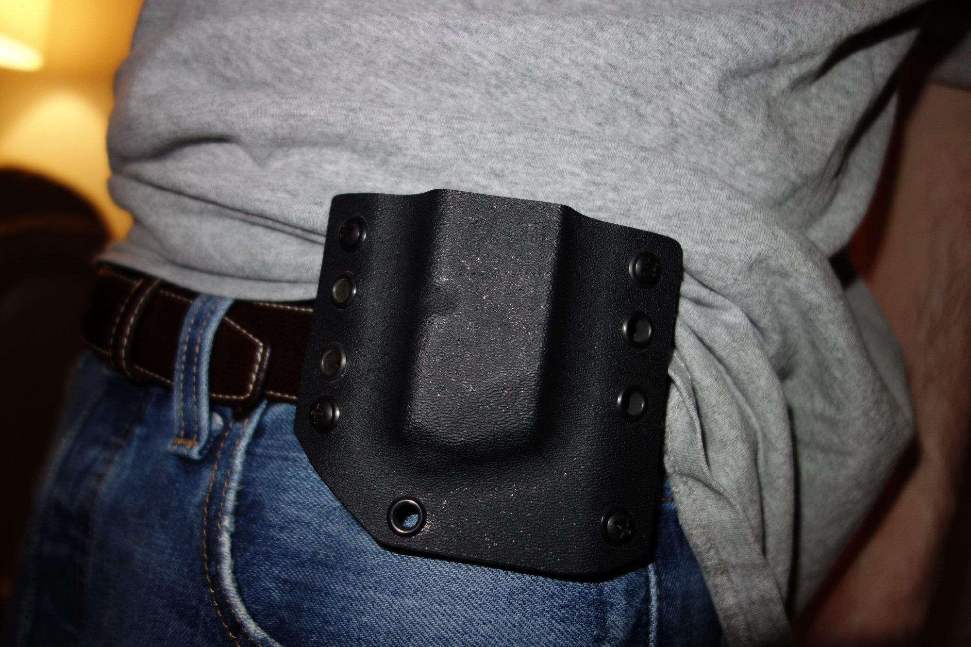 Bravo Concealment Holsters BCH DOS Holster Drop Out of Sight Holster Inside the Waistband Holster for Glock 19 G19 Tactical Pistol Concealment Holster David Crane DefenseReview.com DR 4 Bravo Concealment (BC) D.O.S. (Drop Out of Sight) Holster: Covert Tactical Kydex IWB Concealed Carry (CCW) Holster for Glock 19 Compact 9mm Pistol, and Pistol Mag Carrier/Pouch