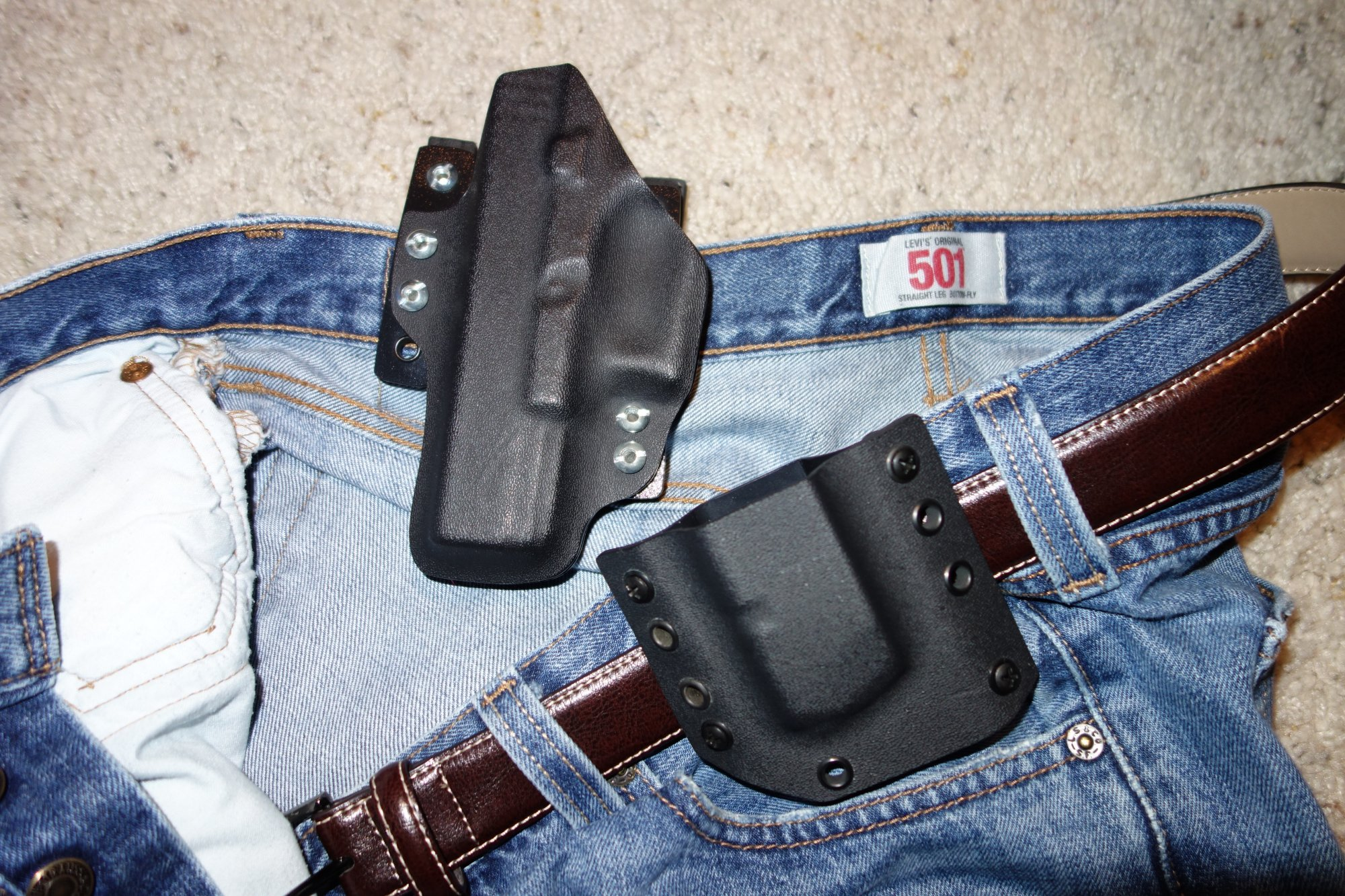 Bravo Concealment Holsters BCH DOS Holster Drop Out of Sight Holster Inside the Waistband Holster for Glock 19 G19 Tactical Pistol Concealment Holster David Crane DefenseReview.com DR 5 Bravo Concealment (BC) D.O.S. (Drop Out of Sight) Holster: Covert Tactical Kydex IWB Concealed Carry (CCW) Holster for Glock 19 Compact 9mm Pistol, and Pistol Mag Carrier/Pouch