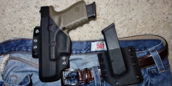 Bravo Concealment (BC) D.O.S. (Drop-Out of-Sight) Holster: Covert Tactical Kydex IWB Concealed Carry (CCW) Holster for Glock 19 Compact 9mm Pistol, and Pistol Mag Carrier/Pouch