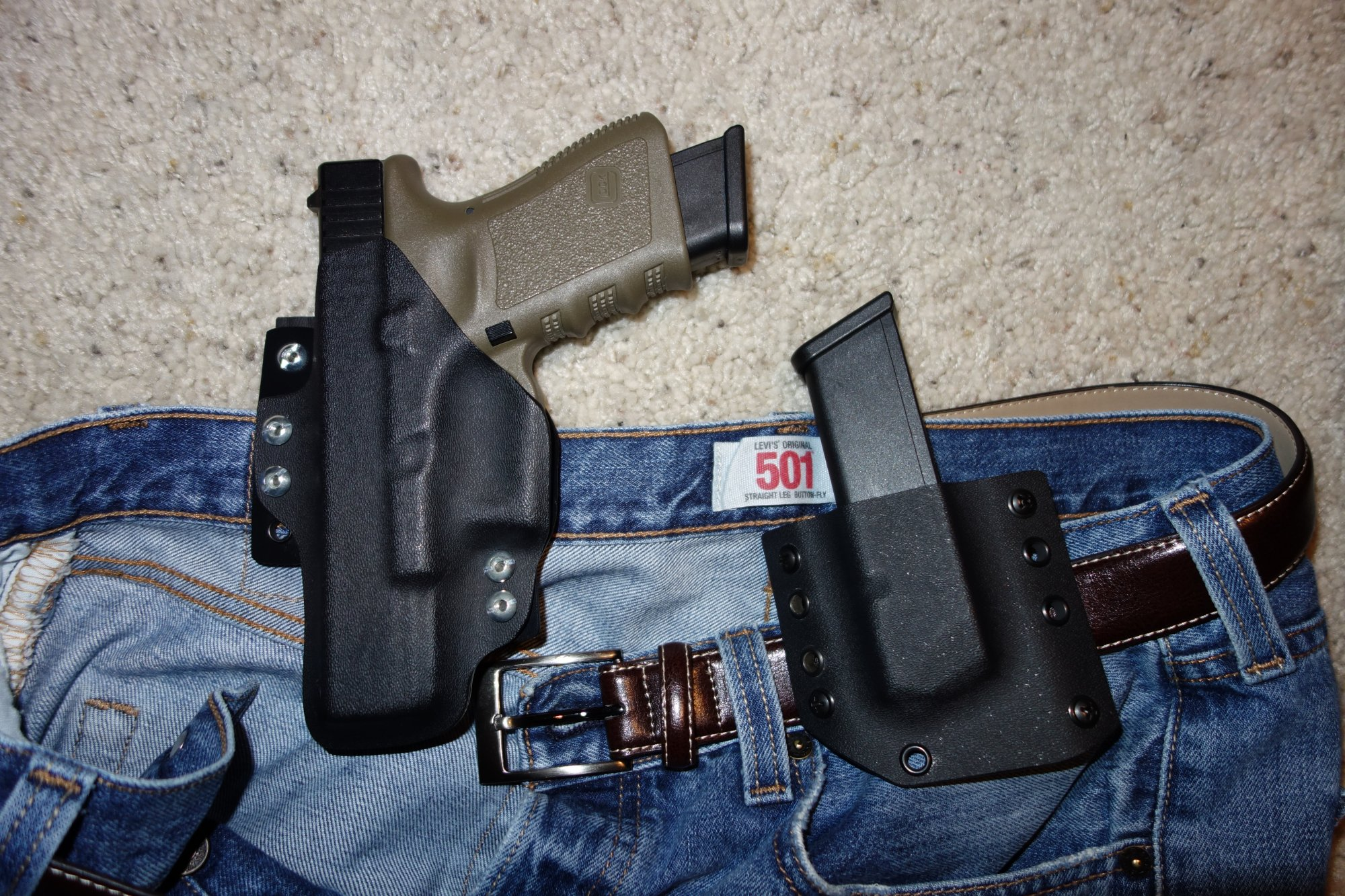 Bravo Concealment Holsters BCH DOS Holster Drop Out of Sight Holster Inside the Waistband Holster for Glock 19 G19 Tactical Pistol Concealment Holster David Crane DefenseReview.com DR 9 Bravo Concealment (BC) D.O.S. (Drop Out of Sight) Holster: Covert Tactical Kydex IWB Concealed Carry (CCW) Holster for Glock 19 Compact 9mm Pistol, and Pistol Mag Carrier/Pouch