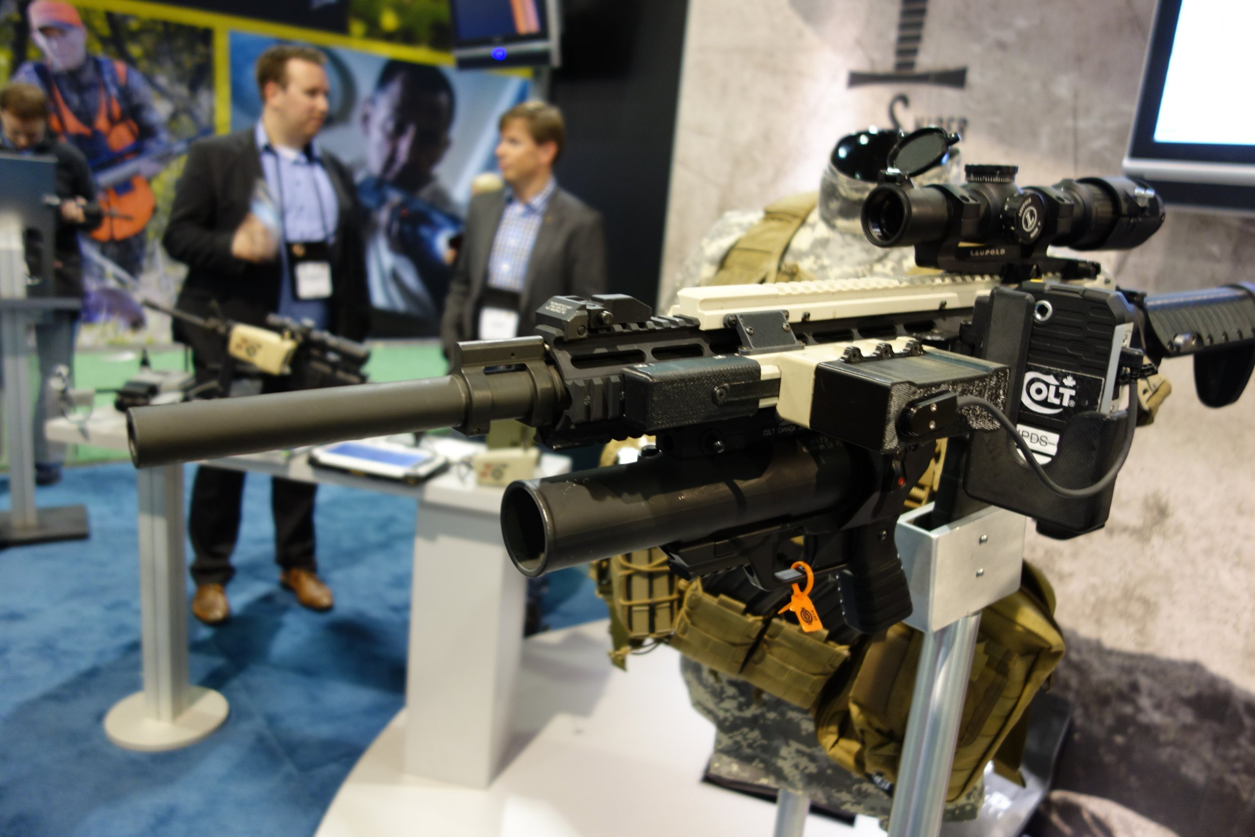 Colt SWORD Sniper Weapon and Observer Reconnaissance Devices Colt M4A1 Carbine SHOT Show 2014 David Crane DefenseReview.com DR 45 Colt SWORD (Sniper Weapon and Observer Reconnaissance Devices) Networked Weapons Targeting System  for Netcentric Warfare (Network Centric Warfare) Demonstrated for DR at SHOT Show 2014 (Video!)