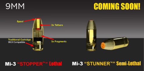 Advanced Ballistic Concepts ABC Multiple Impact Bullet MIB Mi 3 Pulse Stopper Lethal and Stunner Semi Lethal 9mm Rounds Bullets 1 G2 Research Radically Invasive Projectile (G2R R.I.P.) 9mm Round/Bullet and Advanced Ballistic Concepts Multiple Impact Bullet (MIB) Mi 3 Pulse Stopper (Lethal) and Stunner (Semi Lethal) 9mm Rounds/Bullets: Latest Super Ammo that Liquifies your Major Organs and Turns You Into Humanoid Mush with One Shot