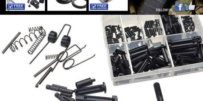 Strike Industries SI AR-15 Rifle/Carbine/SBR Lower Receiver Parts Kits, PRO Kits (Springs, Pins and Detents) and 5.56mm/7.62mm AR Crush Washer Packs