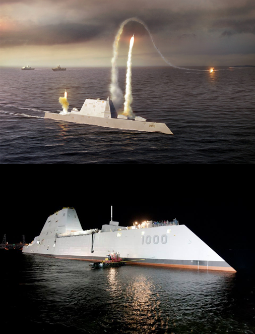 Raytheon DDG 1000 Zumwalt Class Low Observable Stealth Destroyer 1 Raytheon DDG 1000 Zumwalt Class Stealth Destroyer with Electric Propulsion: Low Observable, Hyper Lethal
