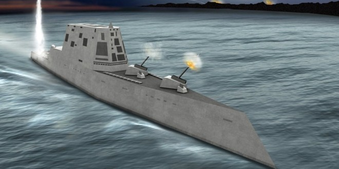 Raytheon DDG 1000 Zumwalt-Class Stealth Destroyer with Electric Propulsion: Low-Observable, Hyper-Lethal
