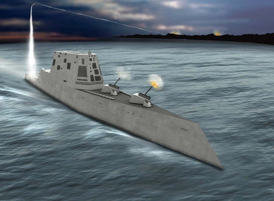 Raytheon DDG 1000 Zumwalt Class Low Observable Stealth Destroyer 2 Raytheon DDG 1000 Zumwalt Class Stealth Destroyer with Electric Propulsion: Low Observable, Hyper Lethal