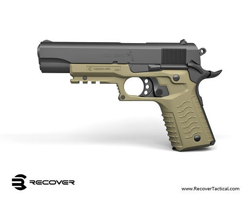 Recover Tactical RT CC3 1911 Grip and Rail Adapter for Tactical 1911 Pistol 2 Recover Tactical RT CC3 1911 Grip and Rail Adapter: Instantly Turns Your Legacy Combat/Tactical 1911 Pistol into a 21st Century Railed Single Action .45 ACP Blaster! (Video!)
